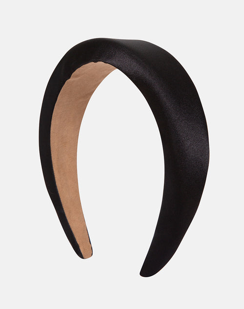 Padded Headband in Satin Black by Motel