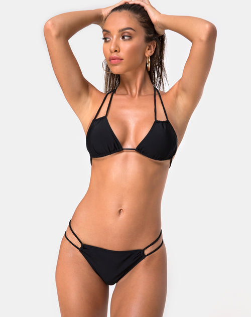 Halow Bikini Top in Black by Motel