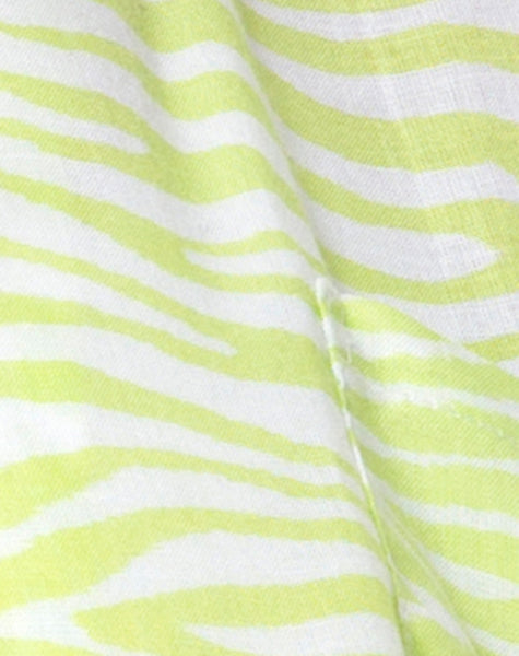 Hawaiian Shirt in Classic Zebra Lime