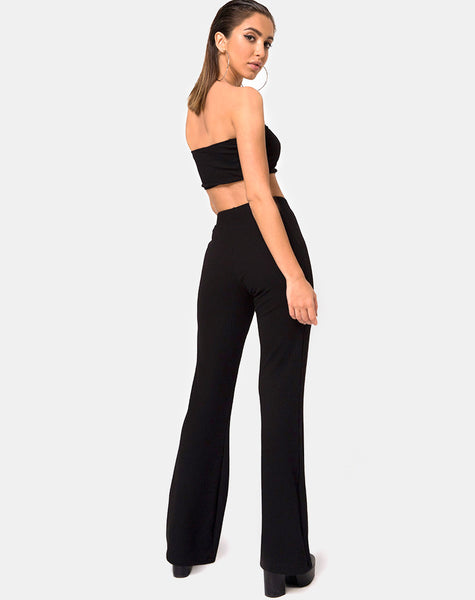 Bomb Tube Top in Black Jumbo Rib By Motel