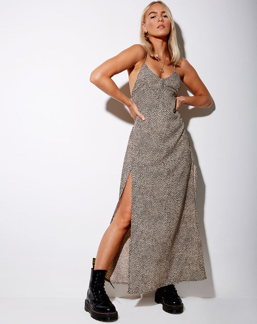 Hian Maxi Dress in Mini Croc Tan