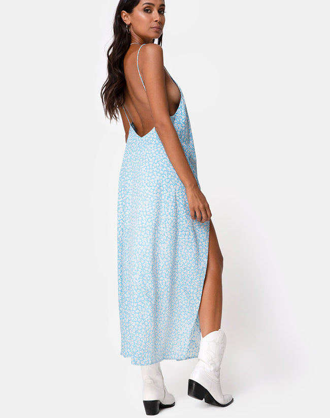 Hime Dress in Ditsy Rose Blue by Motel