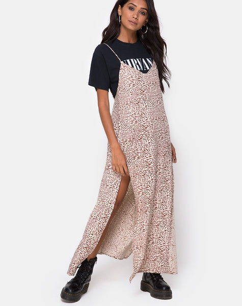 Hime Maxi Dress in Safari Taupe by Motel