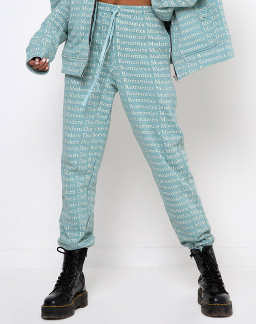Basta Jogger in Modern Day Romantics Seafoam by Motel