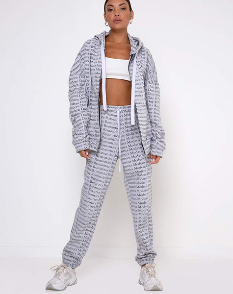 Basta Jogger in Modern Day Romantics Grey by Motel