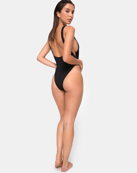 Hooked Swimsuit in Black