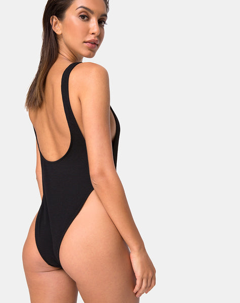 Hooked Swimsuit in Black by Motel