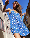 Osla Slip Dress in Soheila Floral Blue by Motel