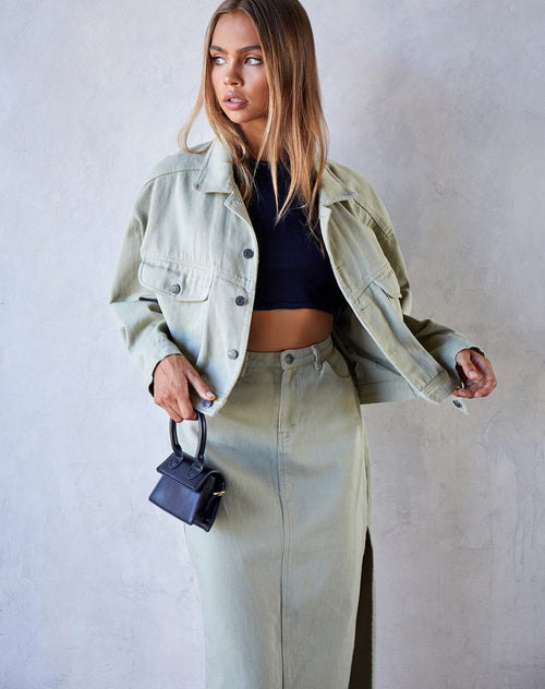 Noma Jacket in Sage by Motel