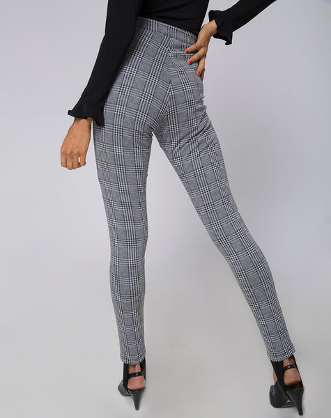 Jada Trouser in Charles Check Grey by Motel