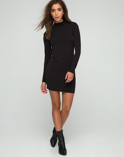 Jaiper Bodycon Dress in Black by Motel
