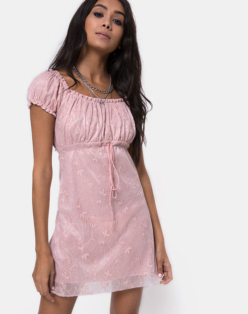 Janette Dress in Lace Rose by Motel