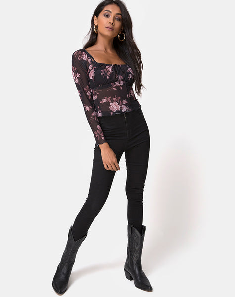 Janina Top in Dusky Rose by Motel