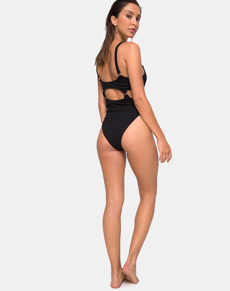 Jayda Swimsuit in Black by Motel