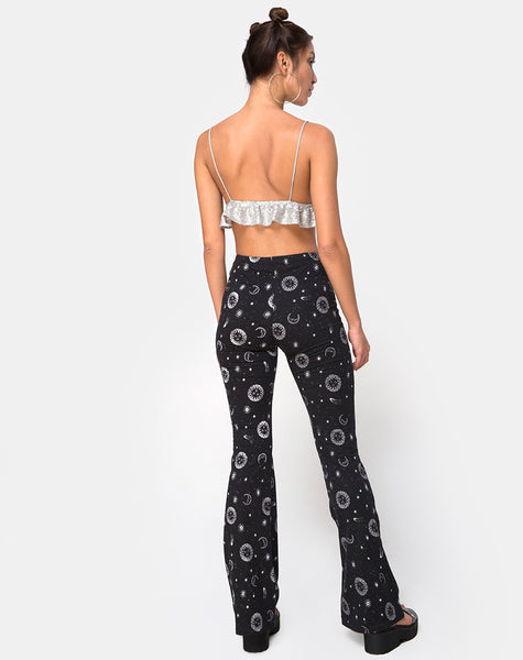 Jeevan Trouser in Small Celestial Black  X Princess Polly