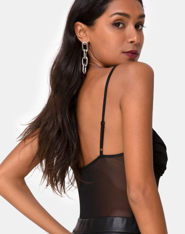 Jelita Sheer Bodice in Black Net by Motel