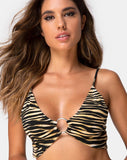 Jeppa Bralette Top in Tiger By Motel