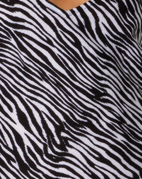 Juvina Slip Dress in Classic Zebra by Motel