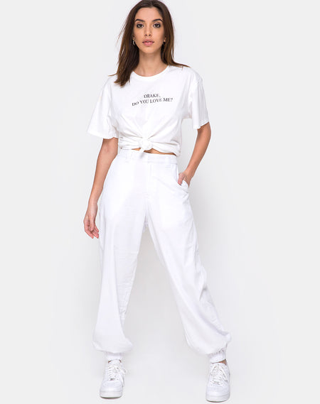Beval Jogger Pants in Reflective Silver by Motel