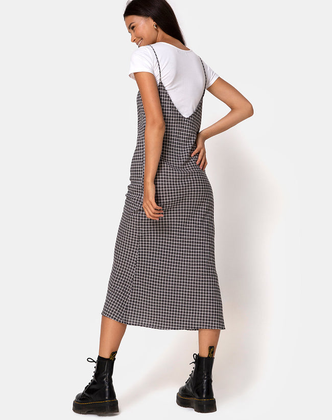 Juvina Dress in Check It Out Black by Motel