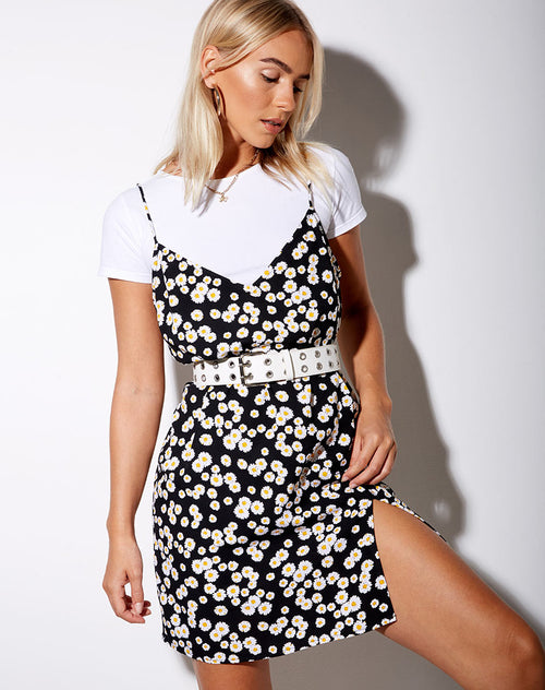 Katya Dress in Mini Daisy Black