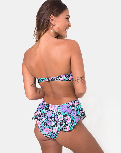 Kaulana Bikini Bottom in Illuminated Floral by Motel