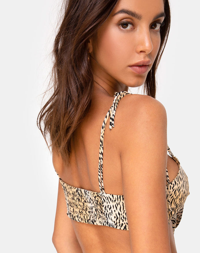 Kave Bralet Top in Mini Tiger by Motel