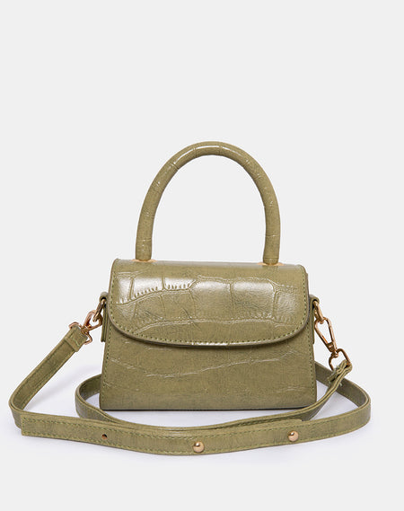 Gigi Shoulder Bag in Snake Beige by Motel