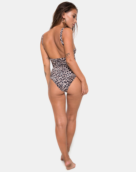Kimani Swimsuit in Original Cheetah by Motel