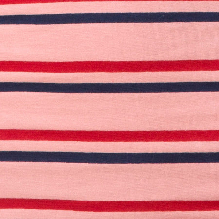 Kimmy Skirt in 70's Stripe Pink Horizontal