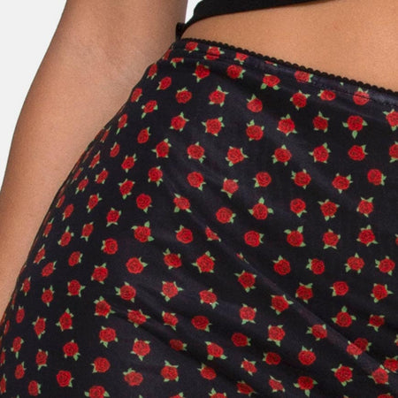 Kinnie Mini Skirt in Dotty Rose Net by Motel