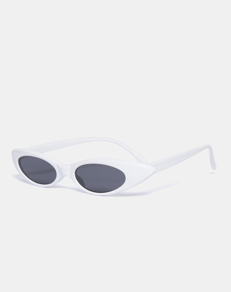 Kourt Sunglasses in White by Motel