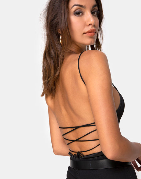 Zepani Bodice in Barbed Wire Black by Motel