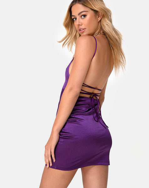 Kozue Dress in Purple