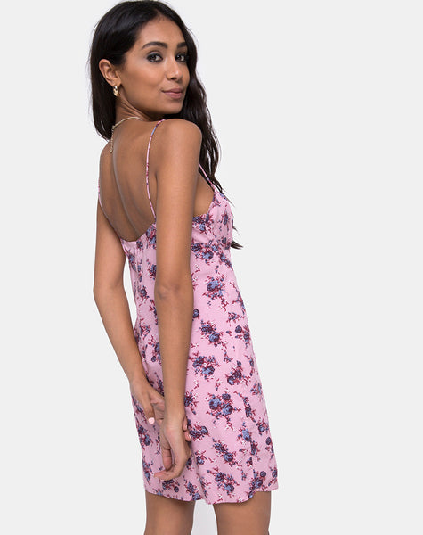 Kumala Slip Dress in Soheila Floral Blush by Motel