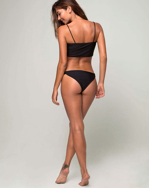 Kye Bikini Bottom in Heart Breaker Black by Motel