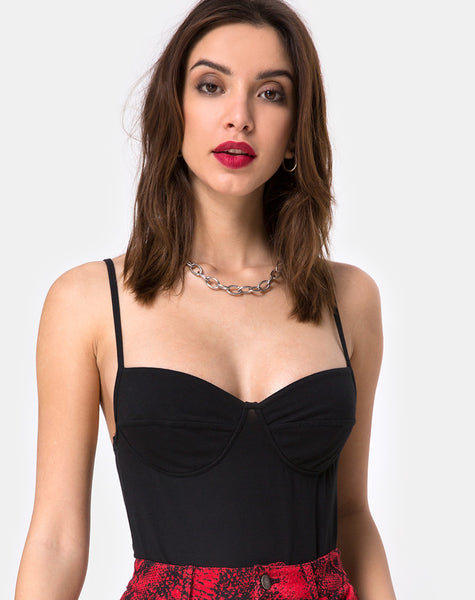 Lanti Bodice in Black by Motel