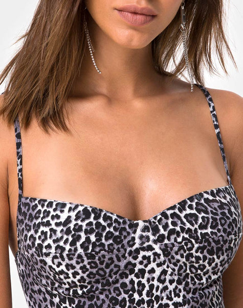 Lanti Bodice in Rar Leopard Grey by Motel
