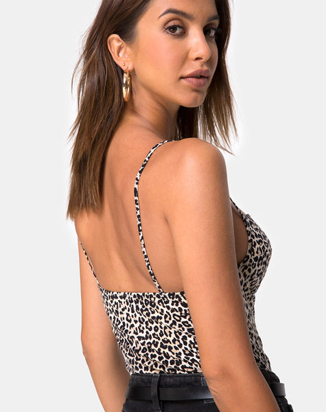 Lanti Bodice in Rar Leopard Brown by Motel