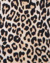 Lao Plunge Bodice in Rar Leopard Brown