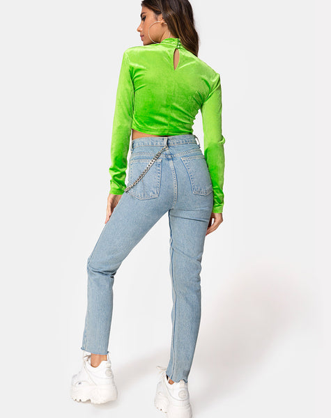 Lara Crop top in Velvet Lime by Motel