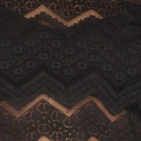 Lara Crop in Chevron Lace Black by Motel