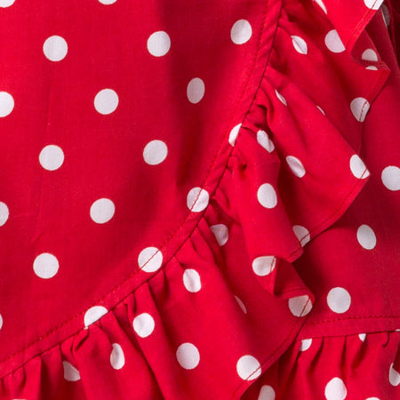 Lasky Dress in Medium Polka Red and White by Motel