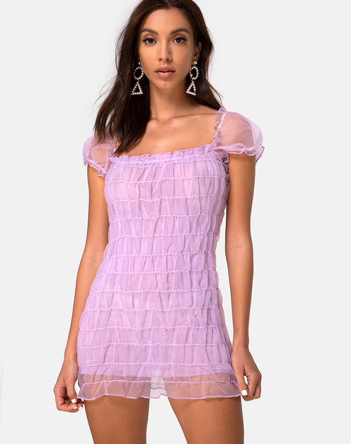 Lenira Mini Dress in Lilac by Motel