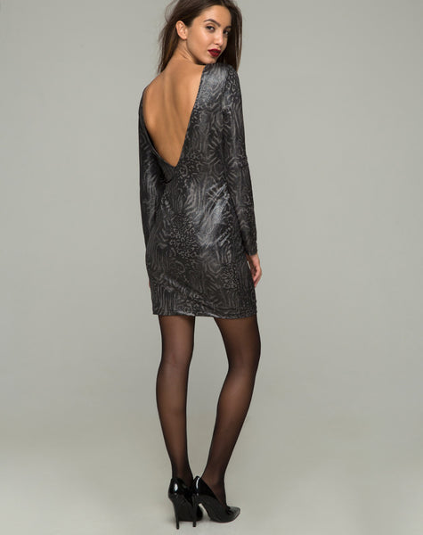 Leo Bodycon Dress in Animal Slinky