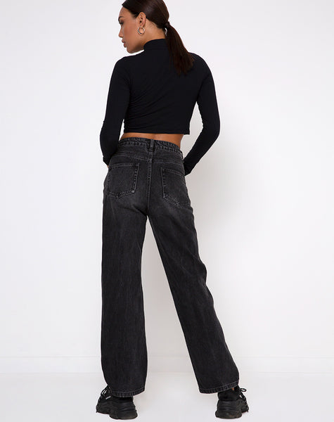 Lesvy Crop Top in Black by Motel