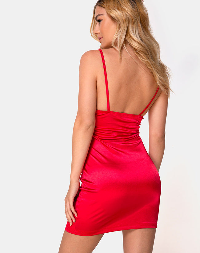 Leta Bodycon Dress in Red by Motel