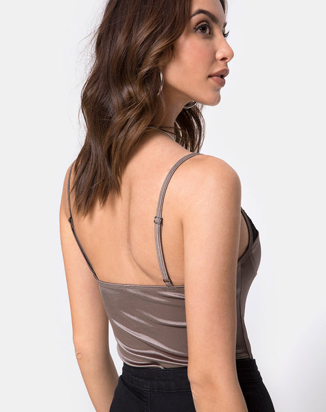 Letta Bodice in Warm Steel by Motel