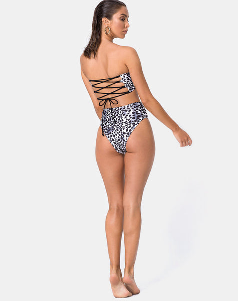 Lien Bikini Top in Dalmatian by Motel
