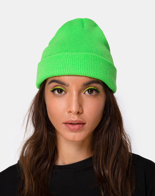 Beanie Hat in Slime Green by Motel